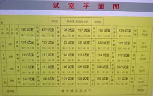 成人高考广州某考场指示图