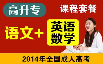 2014年全国成人高考 高升专《语文+数学+英语》套装